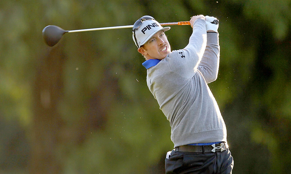 Hunter Mahan had a rough day with six bogeys, four birdies and a double bogey for a 75.
