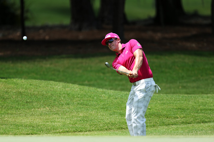 Despite two double bogeys, Hunter Mahan is still in contention at eight under par.