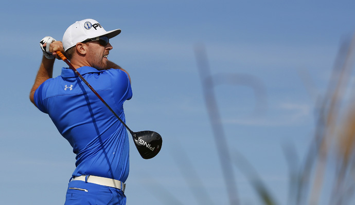 Hunter Mahan tied the low round of the day with a three-under 68.