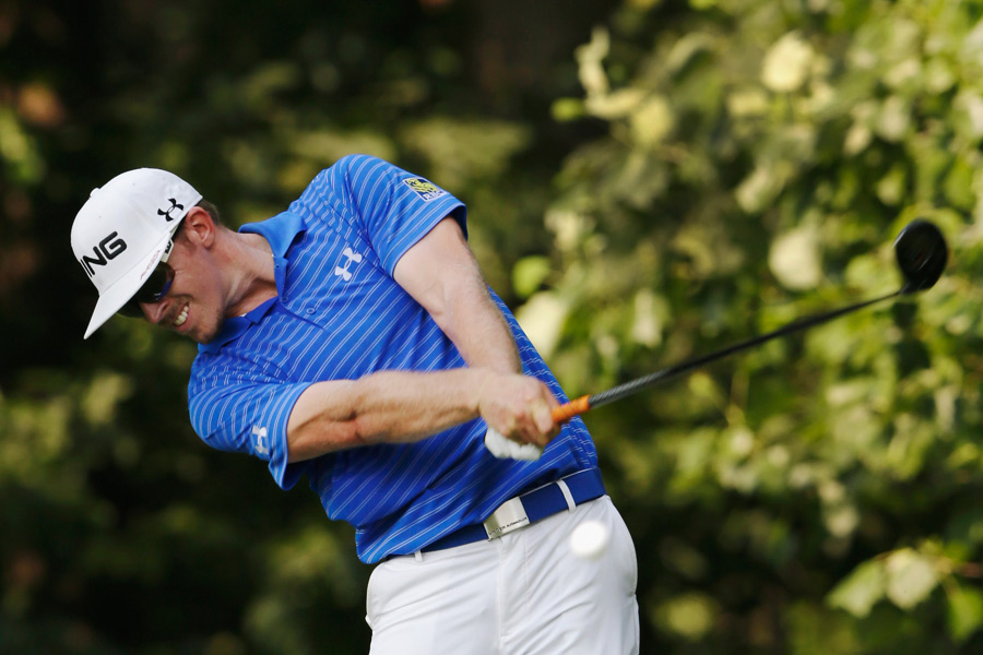 Hunter Mahan birdied two of the last three holes to finish with a two-shot lead heading into the weekend.