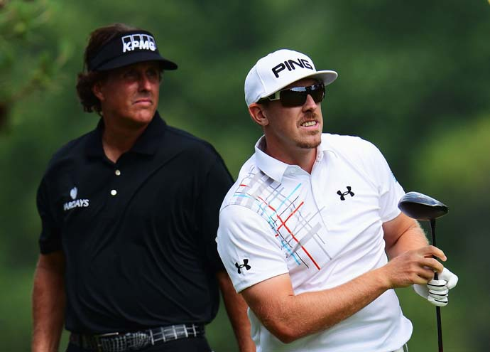 """It feels like Phil never plays away.  He always plays at home because it's just the fans are so for him.""                       --Hunter Mahan on playing with Phil Mickelson in the final round of the 2013 U.S. Open."