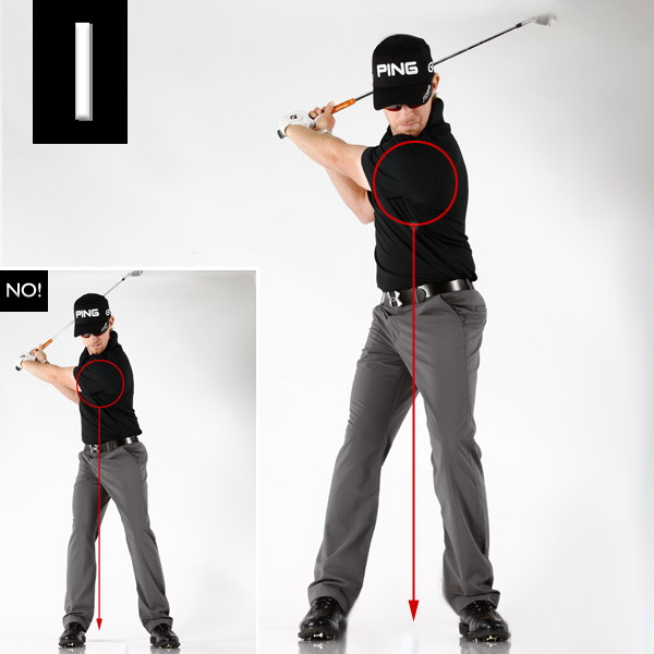 "Rotate in place to turn your fat shots into flush hits.""When I turn, I focus on keeping the center of my chest directly over the ball all the way to the top of my backswing ... Turning while keeping your chest in place not only eliminates swaying and the likelihood of fat contact, it improves the quality of your rotation, because if you sway you can't turn. Ditch the sway and your backswing becomes 100 percent rotation."""