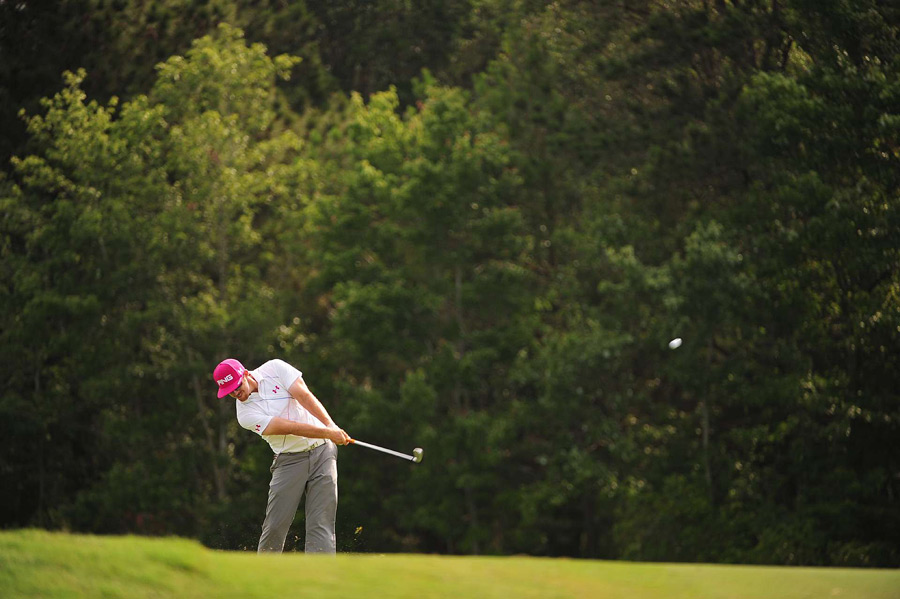 Hunter Mahan, who played alongside Fowler and Woods in the opening round, shot a 74.