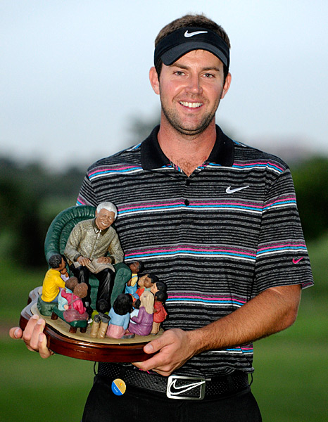 Scott Jamieson won the inaugural Nelson Mandela Championship in 2012 and took home a trophy of the man himself.