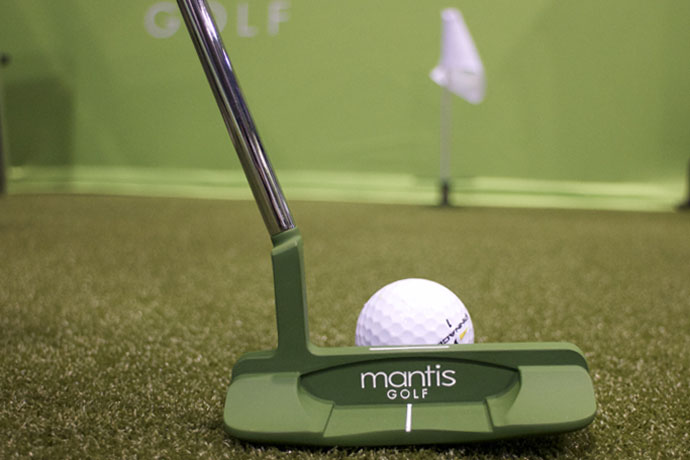 The idea behind the green Mantis Golf putter is that the green color will blend in with the grass so you can focus on the ball, not the putter. Available in blade or mallet styles for $159.99 at MantisGolfCo.com.