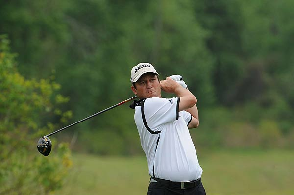 Tim Clark, who bogeyed his first hole Saturday, was four under par after six holes.