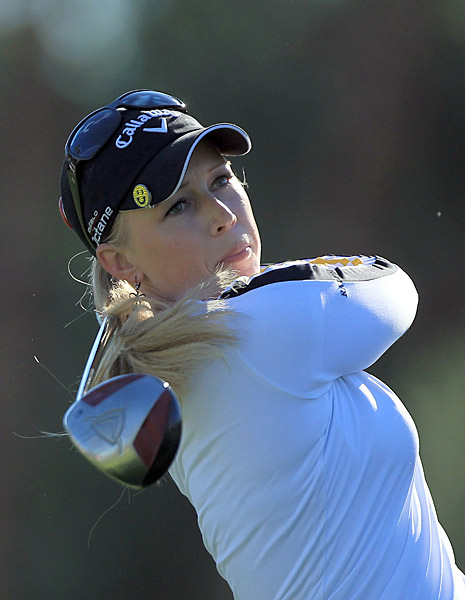 Morgan Pressel got off to a rough start but recovered nicely on the back nine to finish the day at two under.