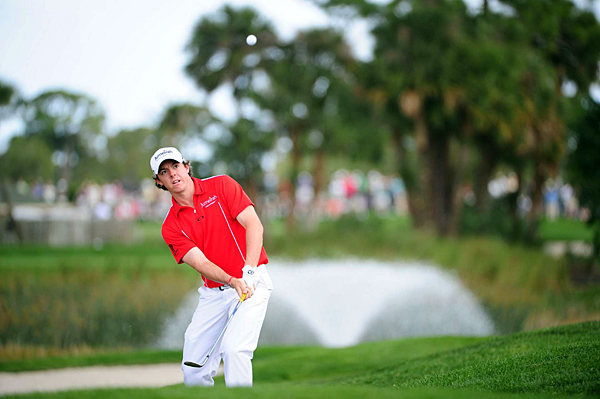Rory McIlroy made four bogeys and three birdies for a 71.