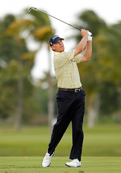 Steve Stricker is only three back after a three-under 69.