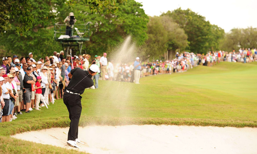 He followed the eagle with back-to-back bogeys at the fourth and fifth.