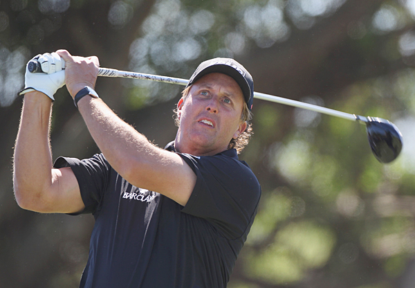 Phil Mickelson is also at even par after two days.