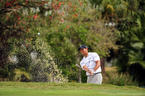 First Round on the 2009 WGC-CA Championship at Doral                       Tiger Woods made three birdies and two bogeys for a 71 in his first stroke-play round since winning the U.S. Open.