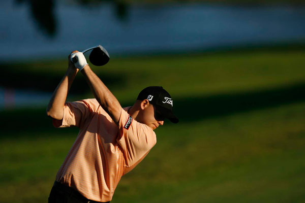 birdied two of his last three holes to shoot a 2-under 70.