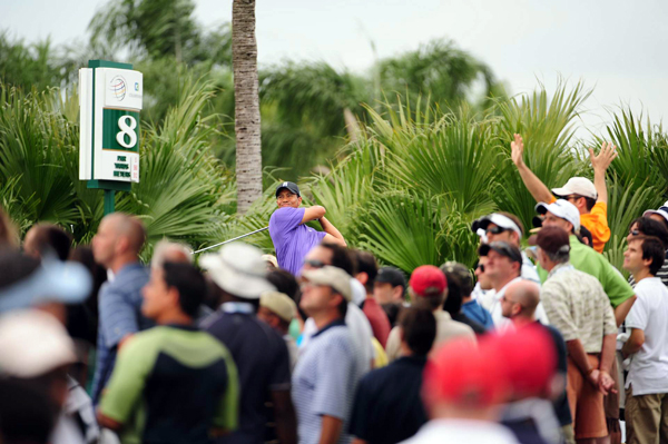 Second Round of the 2009 WGC-CA Championship at Doral                       Tiger Woods didn't make a run on Friday. He finished with a 2-under 70.