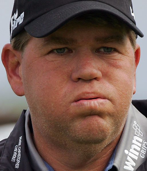 A Bad Year For ...                           Idle time                           John Daly spends a PODS                           Championship rain delay                           in the Hooters tent. What's                           the big deal? He was just                           breast...ahem, resting.
