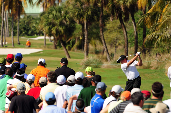 Third Round of the 2009 WGC-CA Championship at DoralPhil Mickelson made six birdies and three bogeys for a 3-under 69. Mickelson is tied with Nick Watney heading into the final round.