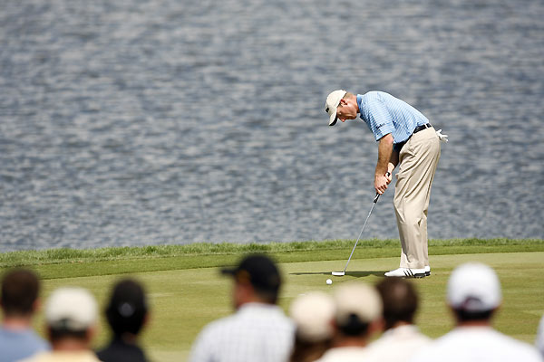 Jim Furyk's wild day included seven bogeys, two birdies, and an eagle.