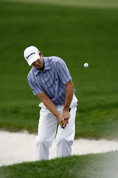 Sergio Garcia fell victim to the tough 18th hole, finishing with a double bogey.