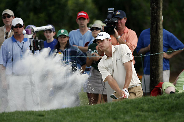 Nick Watney led the tournament until a quadruple bogey on 16.