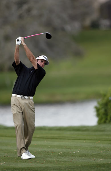 Bubba Watson shot a two-under 68 to grab a share of the lead.