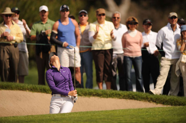 Wie's score could have been even better. She narrowly missed holing a bunker shot for birdie.