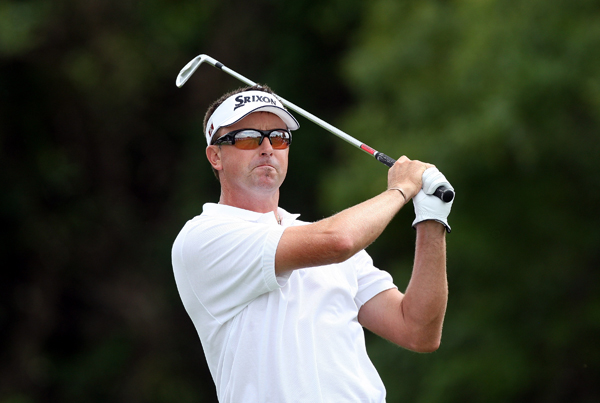 Robert Allenby made five birdies and no bogeys for a 65.