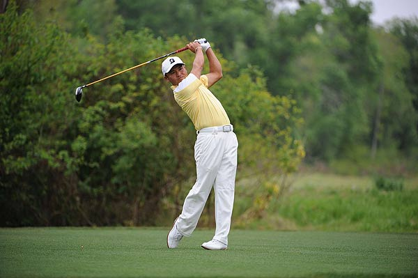 Shigeki Maruyama is two strokes off the lead at six under par after five holes.
