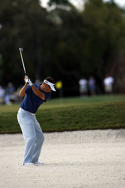 Robert Allenby shot an even-par 70 to finish at three under.