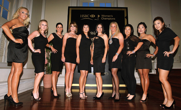 HSBC Women's Championship Gala Dinner                           Prior to the start of this week's HSBC Women's Championship in Singapore, tournament officials held a welcome reception for the LPGA players. From left to right: Natalie Gulbis, Morgan Pressel, Nicole Castrale, Paula Creamer, Candie Kung, Stacy Prammanasudh, Suzann Pettersen, Se Ri Pak, Seon Hwa Lee and Momoko Ueda.