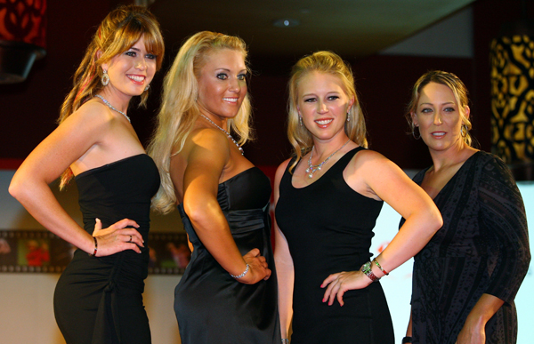 From left to right: Creamer, Gulbis, Pressel and Cristie Kerr.