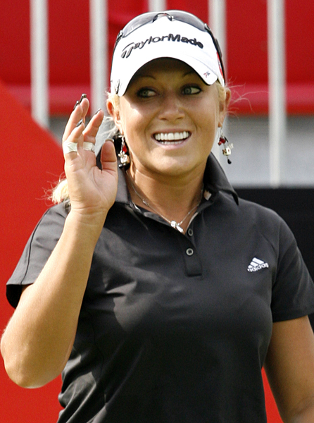Natalie Gulbis made four birdies and two bogeys for a 2-under 70.