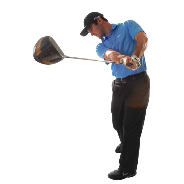 If you feel like your body is still swinging the club in your follow-through, then you've likely fallen off plane.