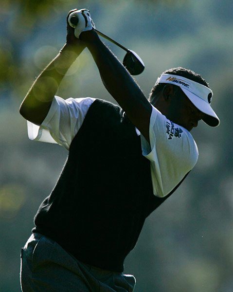 Too Much Tinkering?                                                      Vijay's golf swing continues to evolve. During last year's                           U.S. Open he saw his swing and decided he needed to                           make a change.                                                       The club was in an excessively laid-off                           position at the top (pointed well left of the target). He                           spent the end of 2007 trying to get the club to point                           more right of the target at the top.                                                       While some adjustment                           was probably in order, getting the club too far across at                           the top can make it harder for Vijay to attack the ball                           from his desired, slightly outside path. It remains to be                           seen if his swing change will pay off.