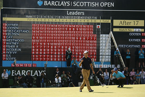 Final Round of the Barclays Scottish Open                             Martin Kaymer shot a two-under 69 for his second-straight European Tour win heading into the British Open.
