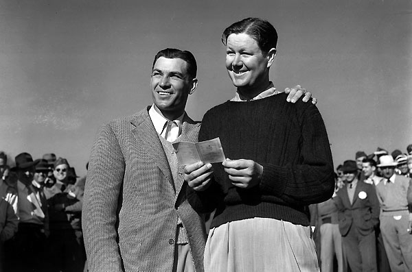 1942                           Byron Nelson vs. Ben Hogan                           280-280*                           (Won playoff, 69-70)                                                      With World War II efforts ramping up at home and abroad, the Masters starting lineup included just 42 of the 88 invitees. But the biggest names in the game not only played, they thrived. On the morning of the playoff, Nelson woke up ill and quickly was three down after six holes. He played the next 13 holes in five-under, eagling the par-5 8th and nearly acing the par-3 12th. It was the last Masters Tournament until 1946 — but it was quite a send-off.