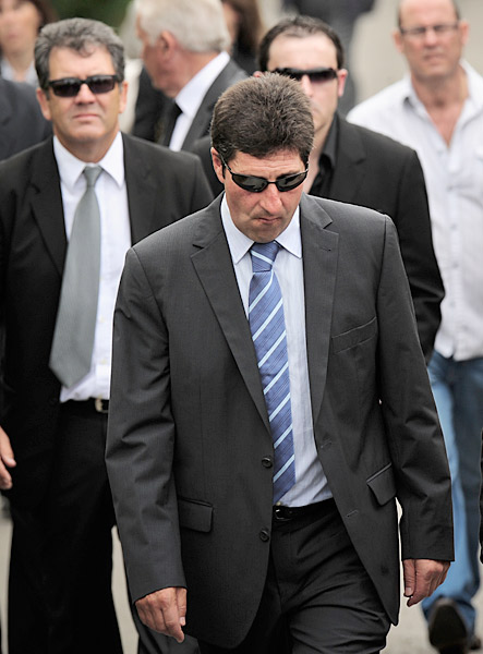 Close friend, countryman and Ryder Cup teammate Jose Maria Olazabal attended the service.