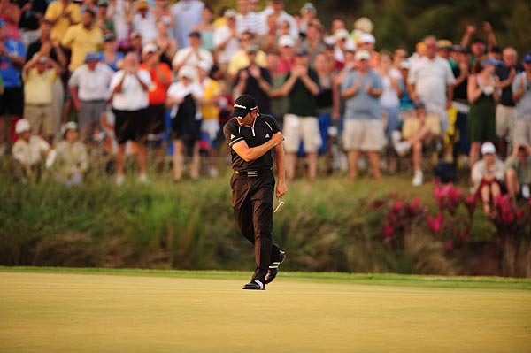Final Round of the Players Championship                       Sergio Garcia won his first tournament in three years when he parred No. 17, the first playoff hole, to defeat Paul Goydos.