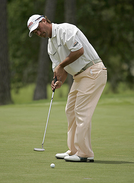 Chris DiMarco shot a steady 69 to get to five under.