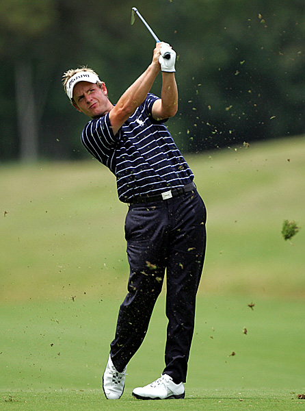 Luke Donald fired a seven-under 65 on Saturday to get to five under. He had eight birdies and a bogey on the day.