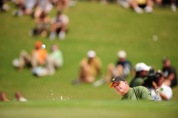 """""""I got beat. I played good golf. That doesn't mean you win,"""" Goydos said. """"There's no defense. I can't tackle the little guy. There's no knee-capping. You have to accept the guy beat me."""""""