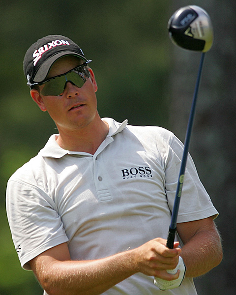 Henrik Stenson's six-under 66 included an eagle on the 16th. He is two under.
