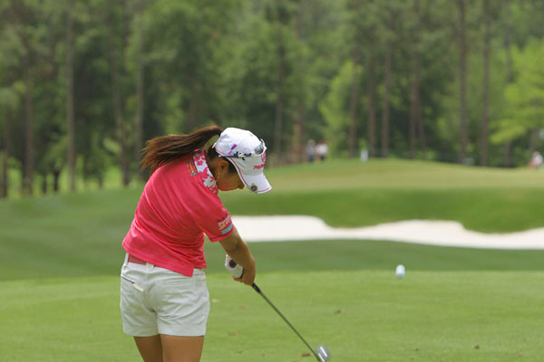 has already won three events this season, and she is six shots off the lead after two rounds.