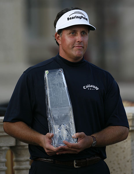 """I'm excited about the way my ball-striking seemed to get better as the week went on,"" Mickelson said. ""It seemed to get better from Dallas to Wachovia, it seemed to get better from Wachovia to here, and so I believe that if I keep working at these things and progressing, I should be ready to take on the ultimate tough challenge at Oakmont.""                                                      • More on Phil Mickelson                           • Dave Pelz: Free tips from Mickelson's short-game coach"