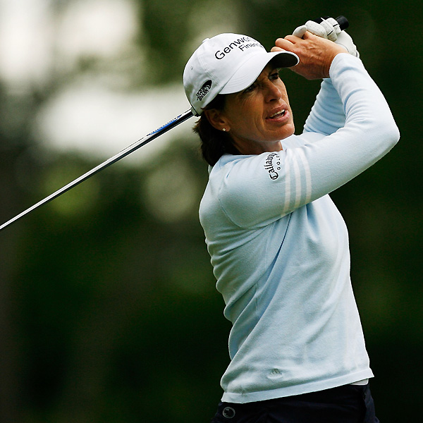 Juli Inkster eagled the par-5 fifth and moved to five under par.