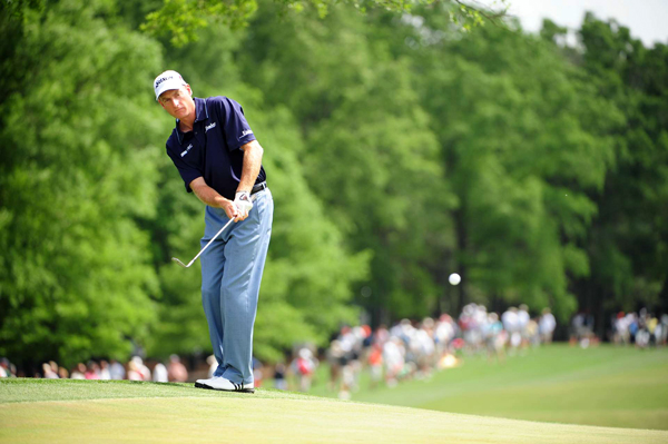 Jim Furyk made six birdies, an eagle and two bogeys for a 66.