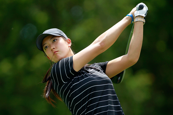 Michelle Wie didn't make it to the afternoon quarterfinals. Wie lost Saturday morning to Sophie Gustafson, 1 down.