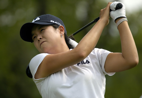 Hee-Won Han made five birdies, two bogeys and an eagle to move into second place.