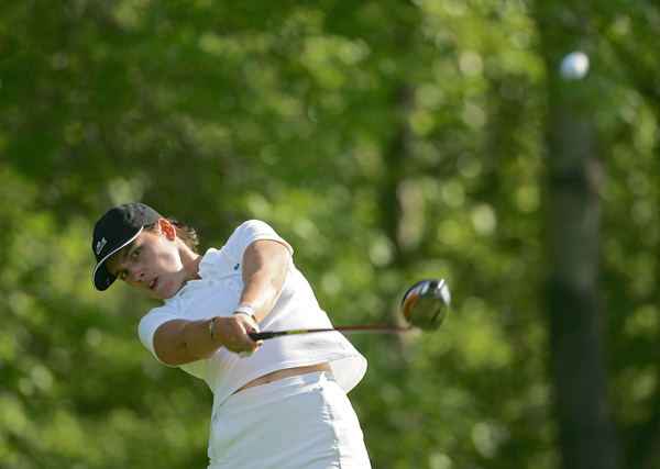 Second Round of the Corning Classic                           Karine Icher shot a six-under 66 to grab a two-shot lead.