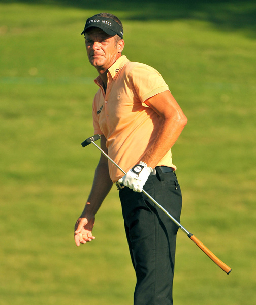 Jesper Parnevik made four birdies and two bogeys for a 68.