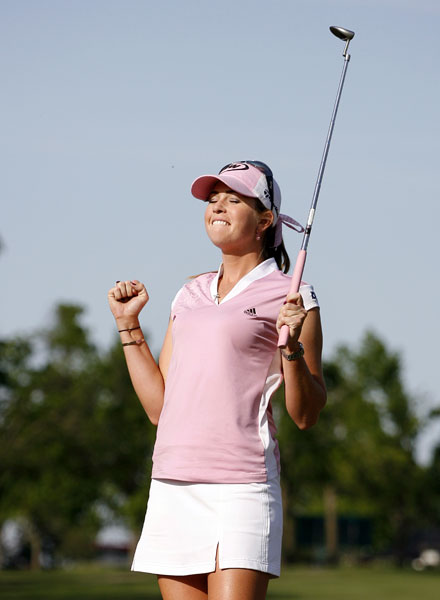 "Paula Creamer                           Height: 5'9""                           Birthplace: Mountain View, California                           Career Victories: 6                                                      Creamer has already won twice in 2008, and also has second and third place finishes."